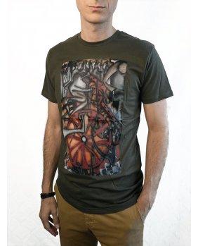 "T-shirt ""Caminata al Cielo"" Vert Kaki"