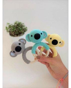 Hochet Koala amigurumi