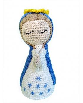 Vierge amigurumi Bleu