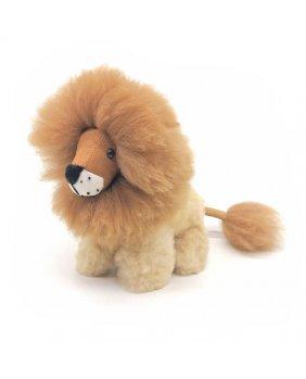 Peluche Lion en laine d'alpaga
